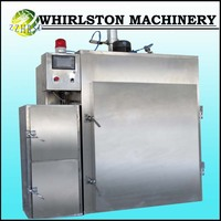 SM-250 full stainless steel meat smoking equipment with PLC control system