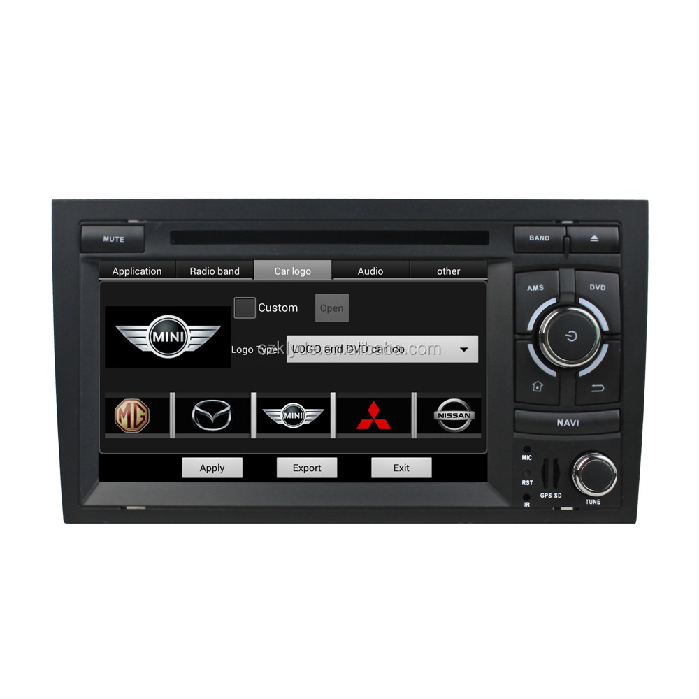 Quad core for Audi A4 dvd player 2 din car gps navigation 1024*600 resolution