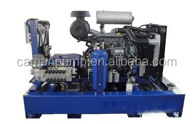 High pressure pump cleaning machine