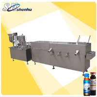 hot sale SH-XHG small bottle wash dry fill and cap machine