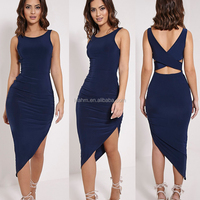 2016 Fashion sleeveless cocktail latest dress design wholesale lady summer women cotton sexy bandage dresses for women plus size