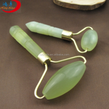 handheld jade stone massager green nature jade neck roller massage