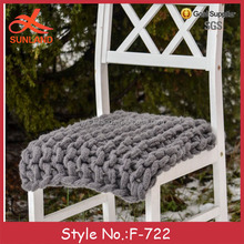 F-722 new hot sale handmade outdoor chunky knit chair cushions