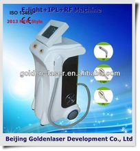 www.golden-laser.org/2013 New style E-light+IPL+RF machine nose hair removal machine skin care