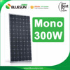Bluesun tile roof solar power system 24v 300w 310watt 320w solar panels factory direct
