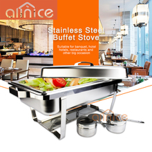 Hot sales Hotel Product SS410 catering buffet dish 9L stainless steel chafing dish with gn pan