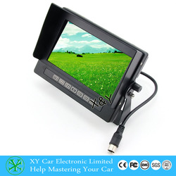 7 inch waterproof digital color TFT LCD monitor XY-2073W