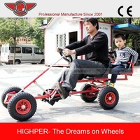 2014 heavy duty adult two seat pedal go kart for sale (PCL-2)