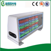 Super Flashing Wireless 3G wifi Taxi Top Led information display sign