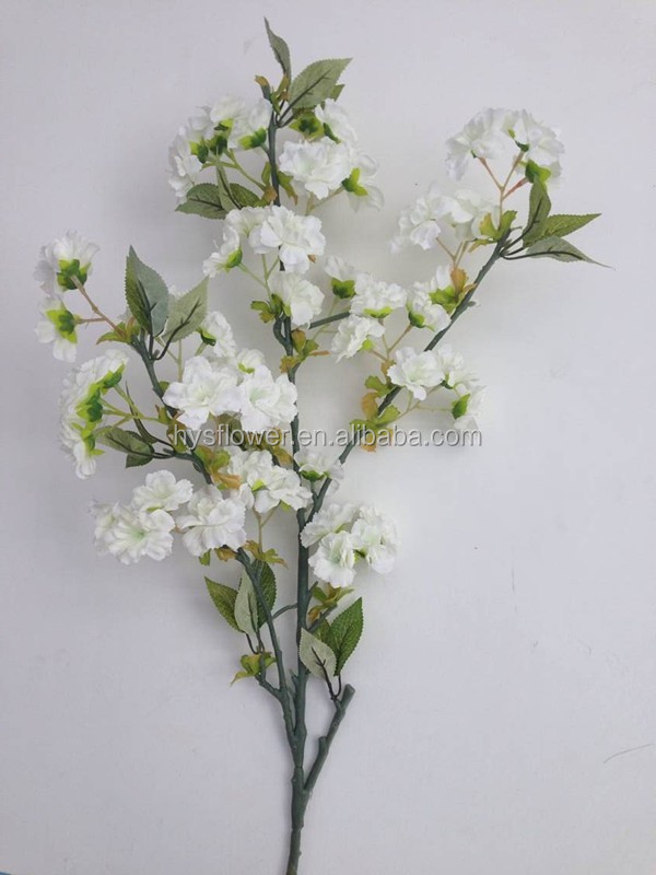 Wholesale white artificial cherry blossom silk cherry flower tree branches