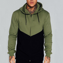 Oliver Green And Black Hoodie With Zips Wholesale Thin Fabric Men's Hoodie