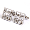 Mens shirt cufflinks sliver abacus model for cuff