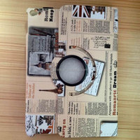 360degree rotating Newspaper Pattern Folding PU Cover Leather Stand Cover Case For Apple iPad 2 3 4 5 6