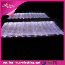 LED lighting fiber optical fabric custom 3d printing on fabric RGB changeable colors remote control
