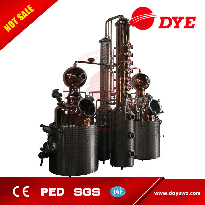 hot sale copper alcohol distiller/distillery/distillation column