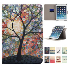 New Arrival Printing Design Rotating Stand PU Leather Case for iPad Mini