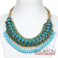 Wholesale Fashion Statement Bead Necklace Jewelry N16007-4000