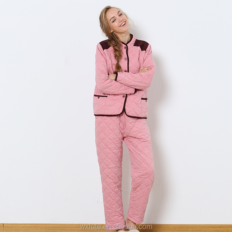 Womens 100% Polyester Sleepwear Unisex Adult Lounge Wear