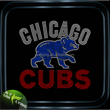 2016 bling chicago cubs rhinestone transfer wholesale