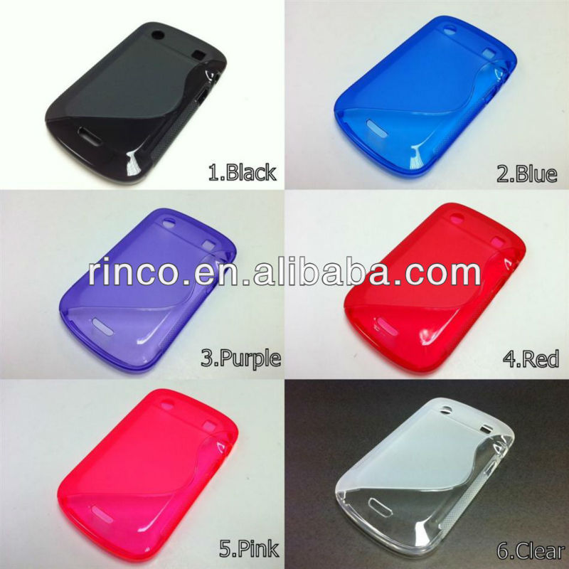 S Line Soft TPU Mobile Phone Case Cover for Blackberry Bold 9900 9930
