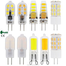 Hot Selling G4 G9 Silicone Crystal LED Corn Bulb 3W 4W 6W 8W Spotlight Lamp 220V AC / DC 12V Energy Saving