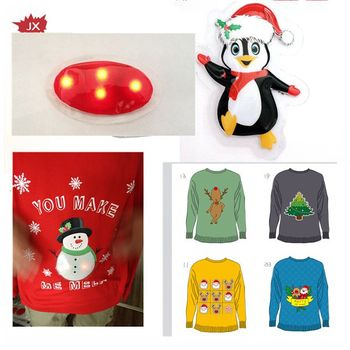Customized led flash light for christmas clothes