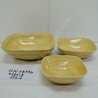 Lacquered bamboo bowls Vietnam / Coiled bamboo salad bowls (HTC 1854/3)