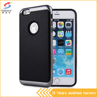 Shockproof high quality bulk cheap tpu pc material multi color case for iphone 6plus