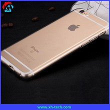 Ultra slim water proof transparent mobile phone silicon plastic case for iPhone 6 plus/6s plus