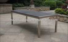 Patio furniture granite stone modern outdoor stainless steel dining table