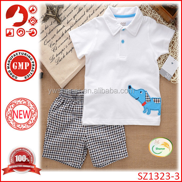 New Arrival cheap cotton boy clothing sets fashion baby boy summer outfits new design western boy clothes sets