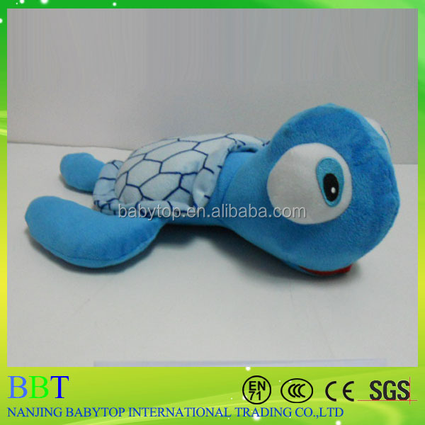 Top quality custom plush stuffed blue turtle learning toy