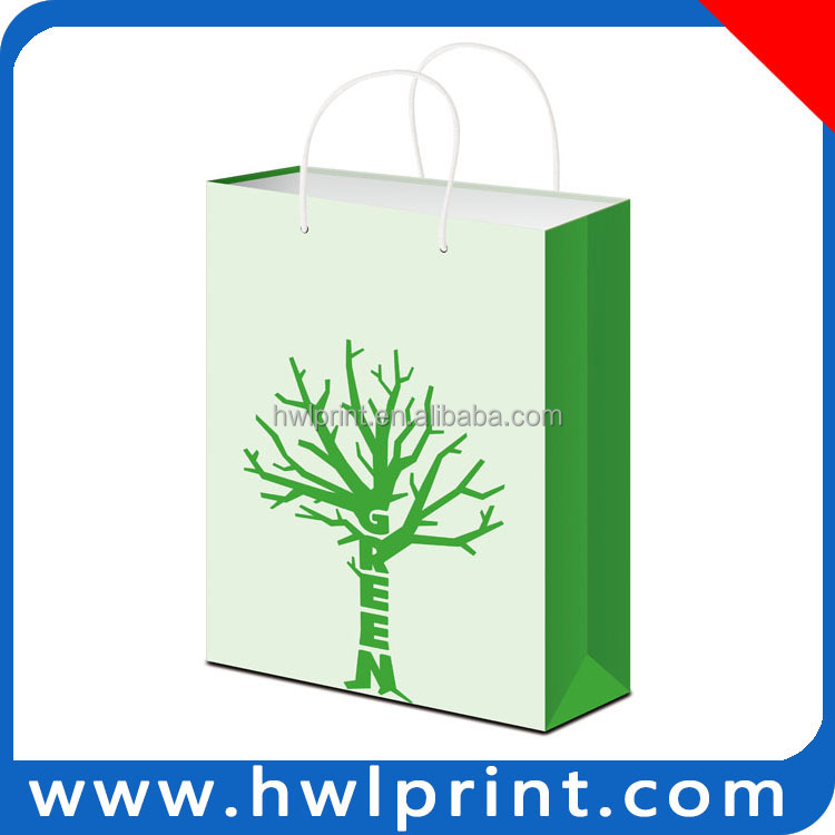 Hot new products for 2015 custom Paper Shoping Packaging Bag with logo print