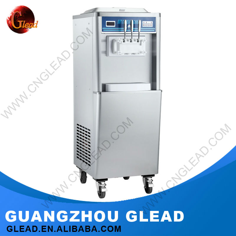 2016 Automatic with durable wheel 3 in 1 ice cream machine