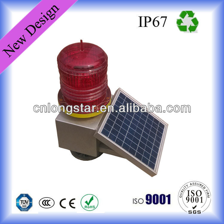 Solar Powered LED Warning Aviation Obstruction Light