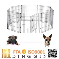 Simple outdoor pet dog pen