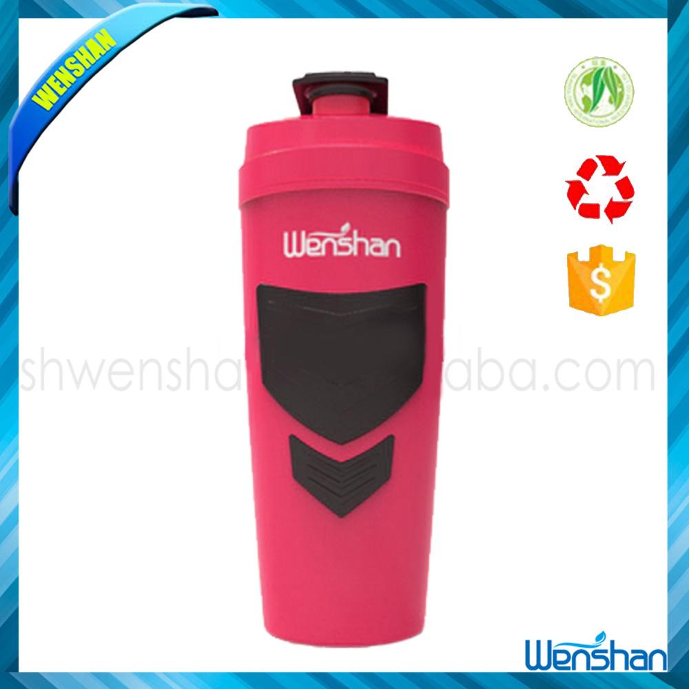 Protein Shaker Logo: Wenshan 2015 New Custom Logo Protein Shaker Bottle