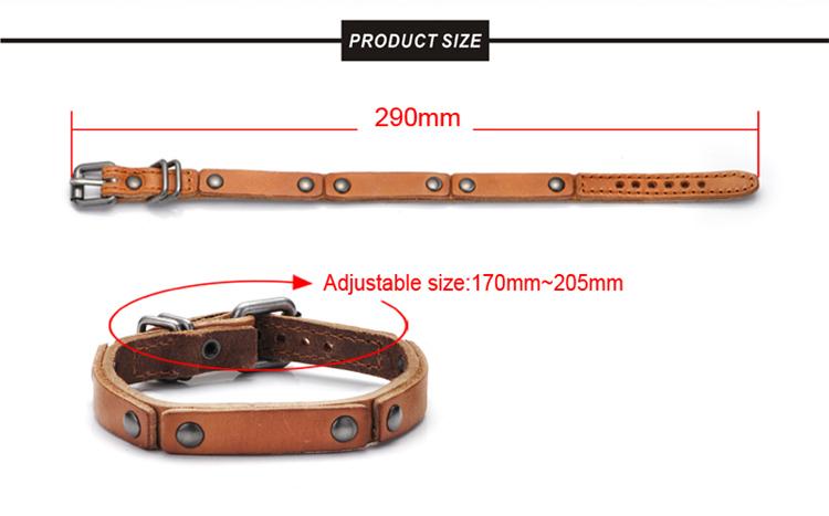 Top Sale European Fashion Plain Genuine Leather Bracelet
