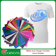 Qingyi wholesale glitter heat press vinyl for clothing