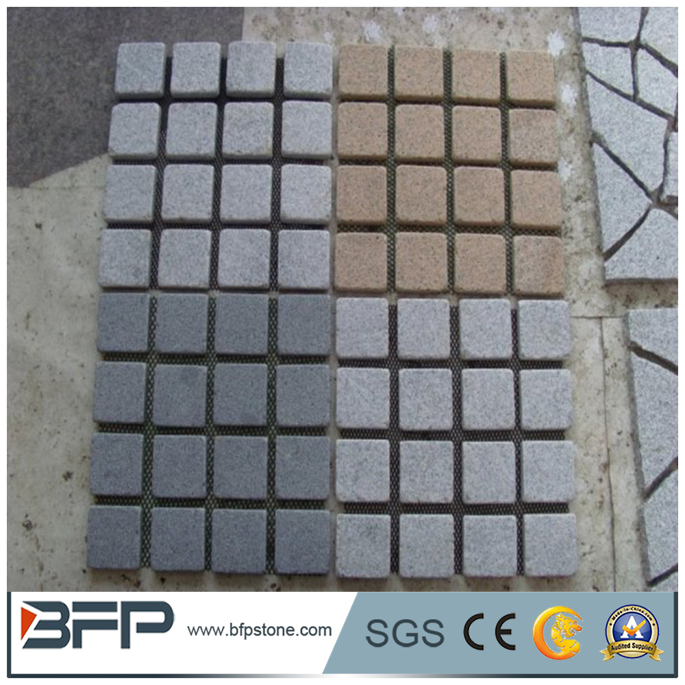 Cheap Grey Granite G603 Pavers Landscaping Flamed Cobble Stones