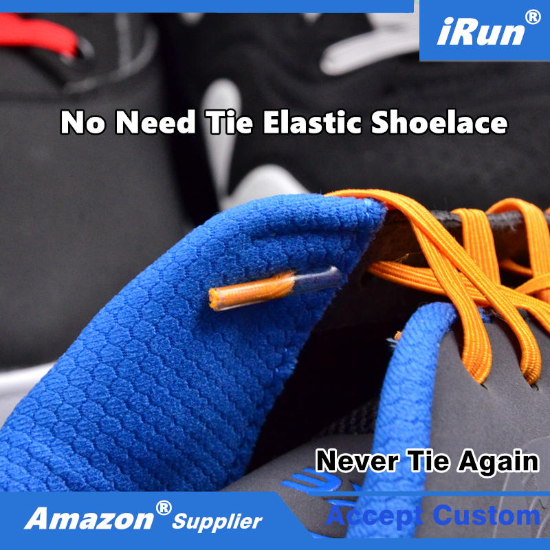 Expand Flexies Elastic Flat No More Lacing System Shoelaces with Plastic/Metal Hooks - Tieless No Tie Elastic Shoelaces