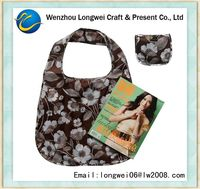 190T polyester shopping bag/folding shopping bag/foldable shopping trolley