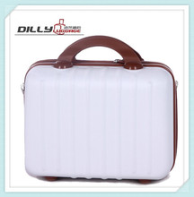 2016 Hot Sale White ABS/PC Carry On Cosmetics Case