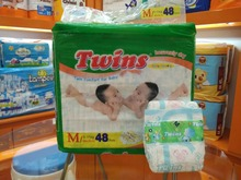 Super soft TWINS clothlike baby diaper with cheaper price