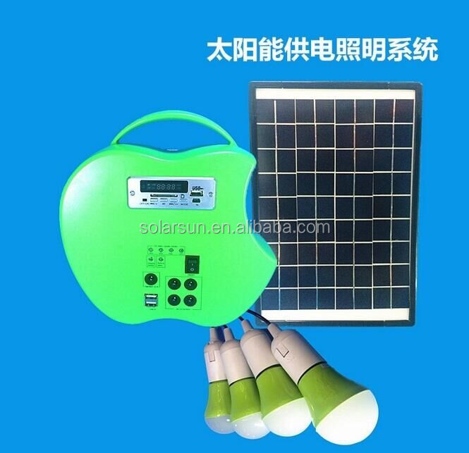 portable solar power system light system kit 10w 12v small solar fan