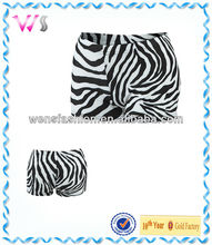 Women Man Zebra printing Unisex Compression Shorts