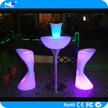 Alibaba express illuminated LED light bar table / fancy LED incandescent glowing table
