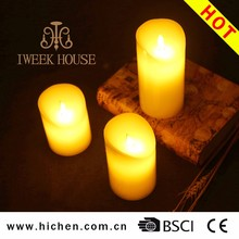 Free sample Christmas electric remote control candle light wireless LED candles