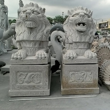 Modern Style Decorative Marble garden marble animal lion statue for sale