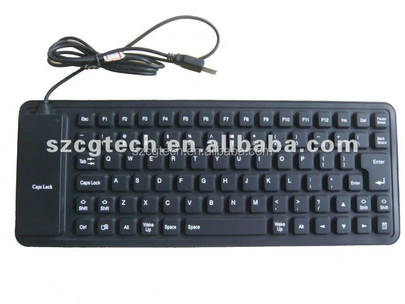 ultra silent silicone keyboard/ usb + PS2 silicone rubber keyboard